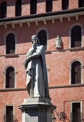 Statue of Dante Alighieri in Verona, Italy