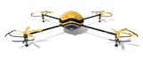the golden drone. (quad copter.front-top view.) poster