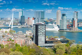 Fototapety Rotterdam, Netherlands. City skyline on a beautiful sunny day