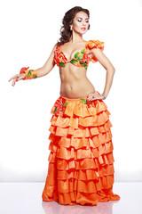 girl in Hawaiian dress