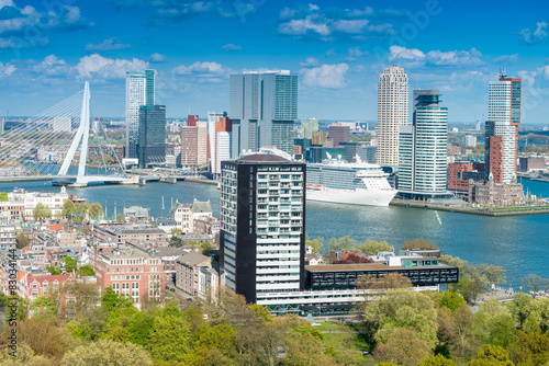 Fotobehang Rotterdam Rotterdam, Netherlands. City skyline on a beautiful sunny day