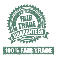 Fair Trade  Rubber Stamp