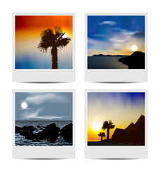 Set photo frames with beaches