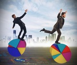 Finance and economy acrobats
