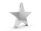 Fototapety silver star symbol