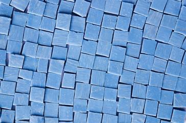 Tessere di mosaico in pasta vitrea celeste