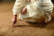 Obrazy na płótnie, fototapety, zdjęcia, fotoobrazy drukowane : Jesus Writing on the sand
