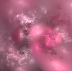 Beautiful glowing background in pink