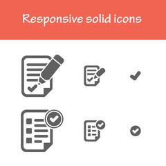 responsive solid agreement icons