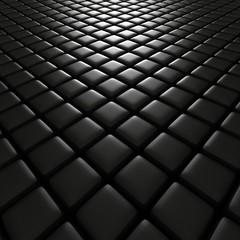 3d illustration of black cubes