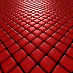 3d illustration of red cubes