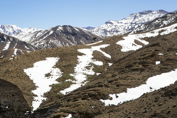 Atlas montaña nevada