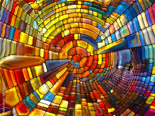 Foto Spatwand Glas In Lood Lights of Stained Glass