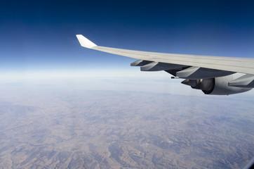 Flying over Mongolia Mongolei