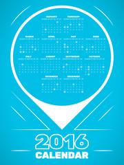 Calendar 2016 template. Editable vector. Eps 10