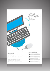 Flat business brochure ,flyer ,magazine ,catalog or poster cover