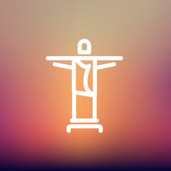 Christ the Redeemer thin line icon