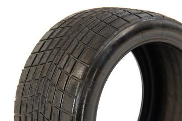 Tubeless radial race tire detail