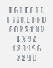 Font the monogram in thin lines. Hipster set.