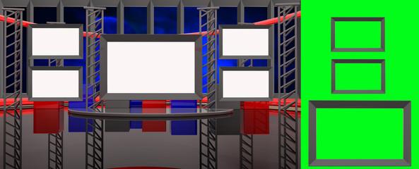 Virtual studio with insert screen