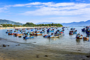 Local Boats At Morning in Vietnam