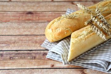 Freshly baked baguettes
