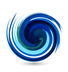 Waves splash water vector logo