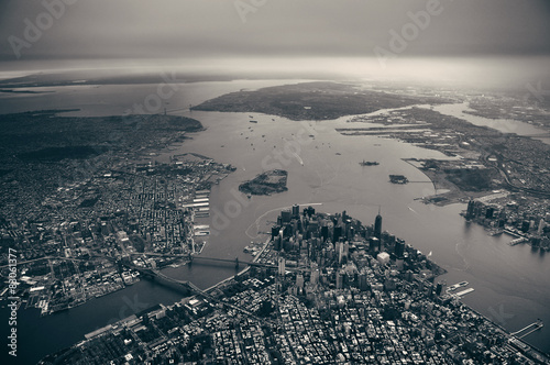 Poster Manhattan aerial