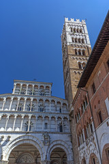 Lucca Cathedral  (Tuscany, Italy). Vertically.