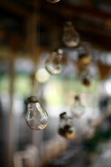 Suspended light bulb