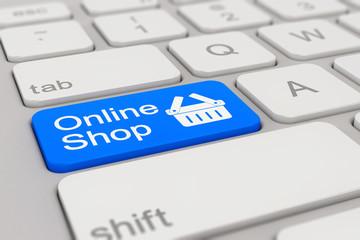 keyboard - online shop - blue