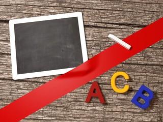 Tafel Kreide Buchstaben ABC Schule Lernen
