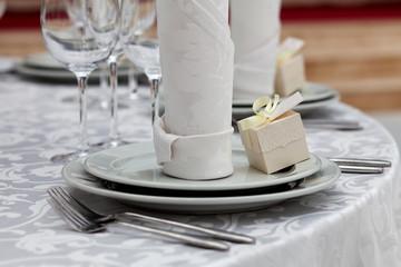 Dinner wedding table setting