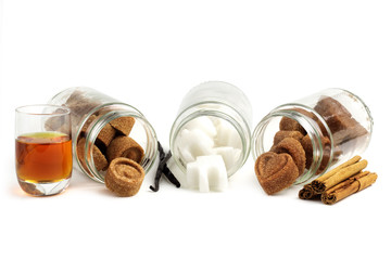 assortment of flavored sugar cubes