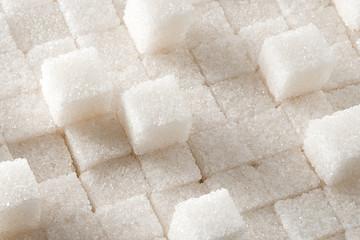 Refined sugar cubes.