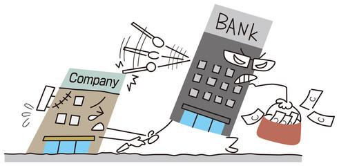 会社から資金を引き上げる銀行