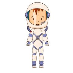 Cosmonaut cartoon character