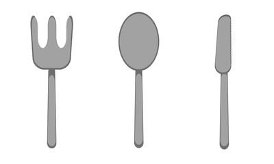 forchetta, coltello e cucchiaio