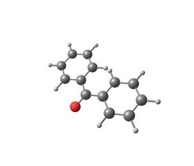 Benzophenone molecule isolated on white