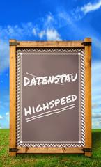 Strassenschild 34 - Highspeed