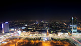 Fototapety View of the center of Warsaw at night