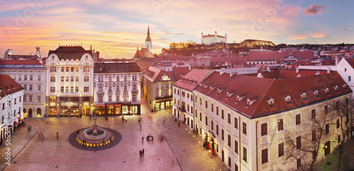 Poster Bratislava Panorama - Main Square