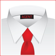 White shirt for the agent