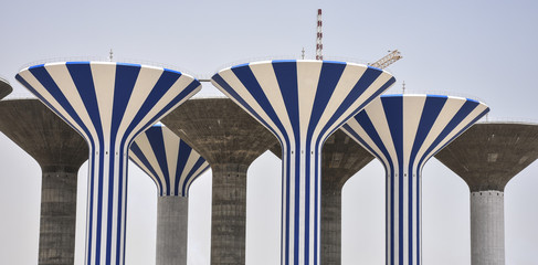 Under Construction Water towers in Jaber al-Ahmed, Kuwait