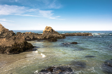 The rocks on the Fort Bragg coast, California