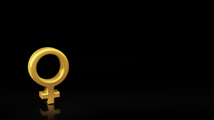 Female gender black slide