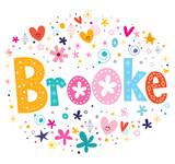 Brooke girls name decorative lettering type design