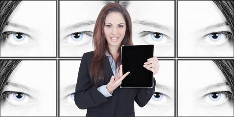 Beautiful eyes business presentation woman