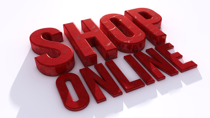 Shop online 3d text sign