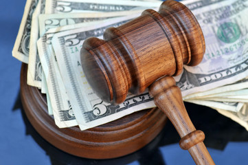The cost of justice - gavel and money